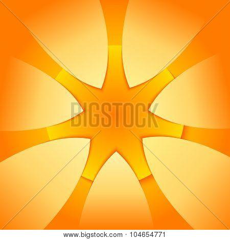 Yellow-star-presentation-template-design-element