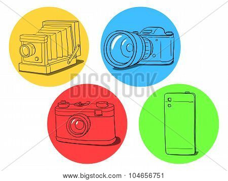 Camera evolution illustration