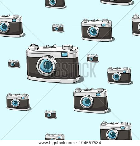 Seamless vector camera background