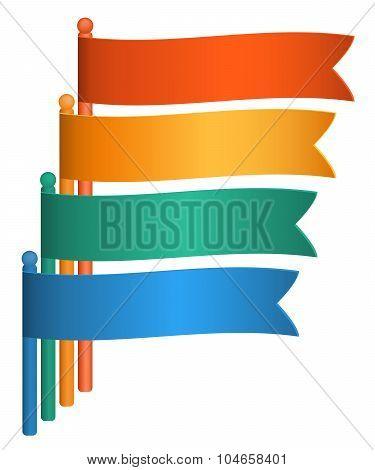 Infographics-flags-presentation-template-design-element