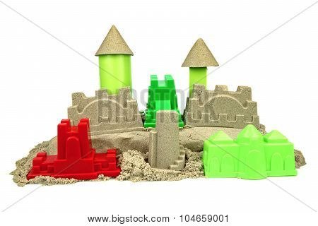 Kinetic Sand With Child Toys For Indoor Children Creativity Games