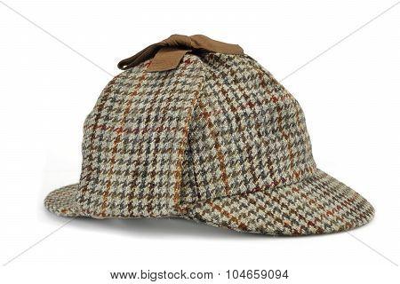 Investigation Concept With  Sherlock Holmes Hat Famous As  Deerstalker