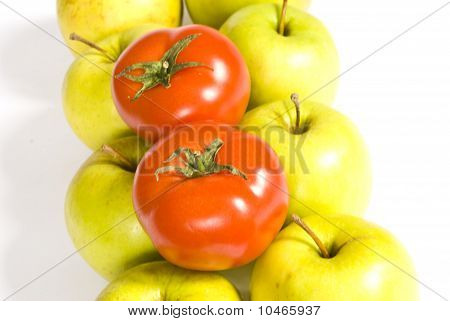 Two Tomatoes And Apples