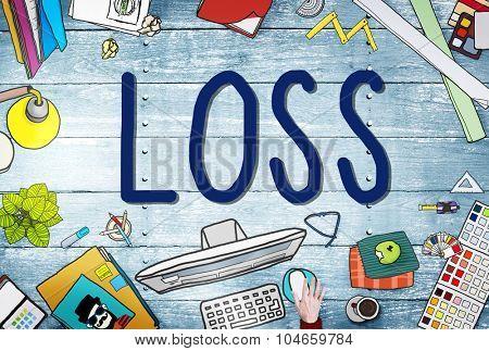 Loss Risk Debt Economy Finance Concept