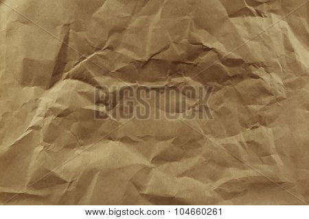 Closeup of brown paper texture background