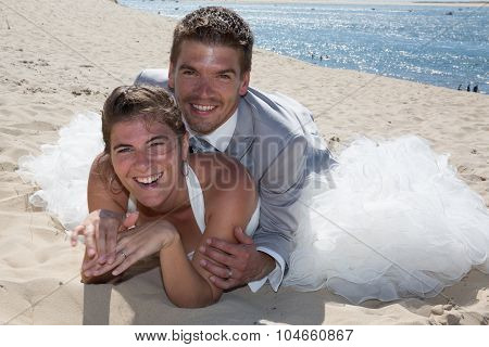 Beautiful And Lovely Wedding Couple Piggy Bag