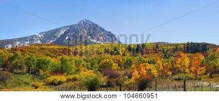 Marcelina mountain landscape in Colorado in autumn time