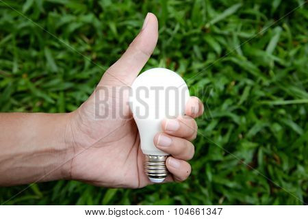 Led Bulb With Lighting - Save Lighting Technology