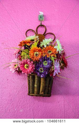Hanging Basket Full Of Spring Pansies