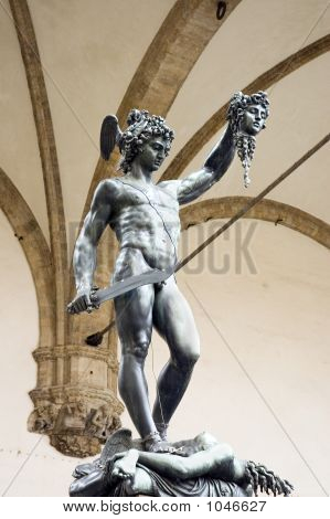 Bronze Statue Of Perseus, Florence, Tuscany, Italy
