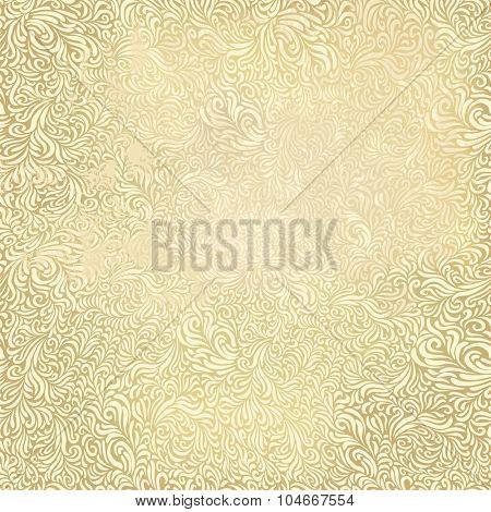 Aged vintage floral pattern