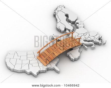 Bridge Between Europe And Usa