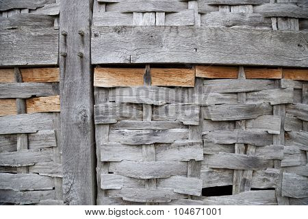 Wattle and Timber-framed Panel