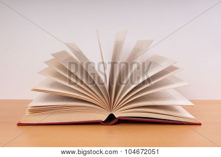 book with turning pages