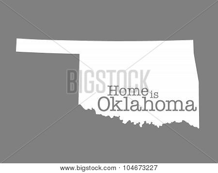 Home Is Oklahoma State Outline Illustration