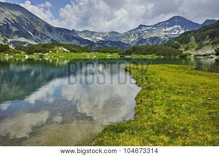 Reflection of Banderishki chukar peak in Muratovo lake
