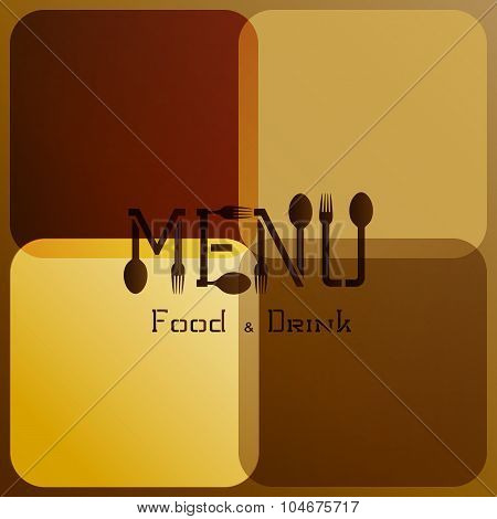 restaurant menu with modified letters 3