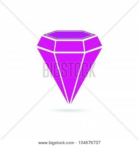 Diamond Pink Crystal Vector