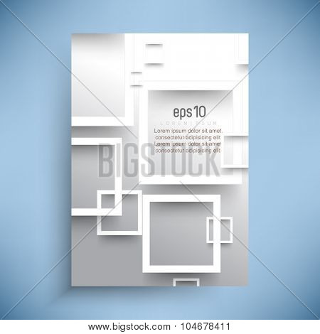 white square frames overlapping leaflet background illustration