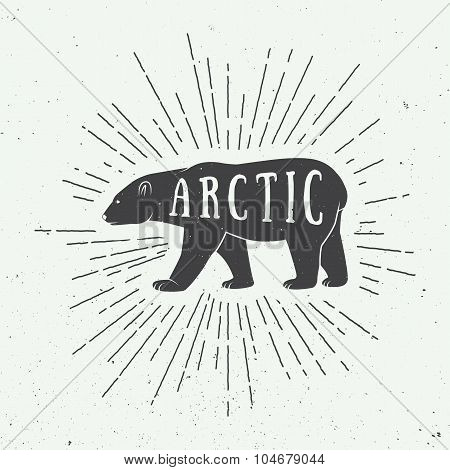 Vintage Arctic White Bear With Slogan.