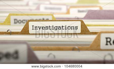 Investigations Concept on Folder Register.