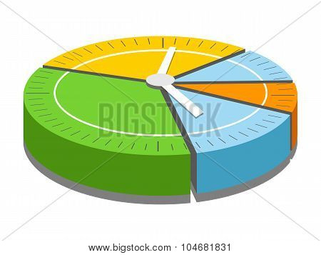 Schedule watches vector illustration