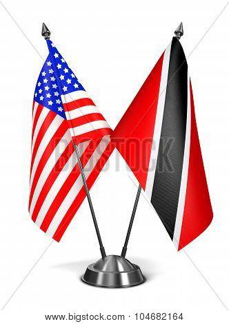USA,  Trinidad and Tobago - Miniature Flags.