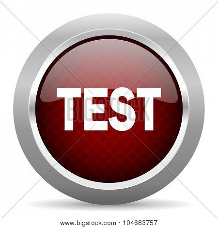 test red glossy web icon