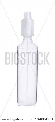 Medicine dropper bottle isolated on white