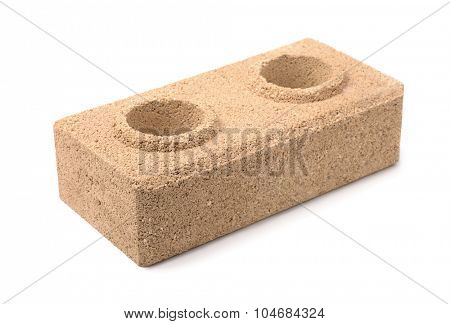 Dry pressed brick isolated on white