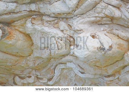 Interesting rock with curved layers of rock