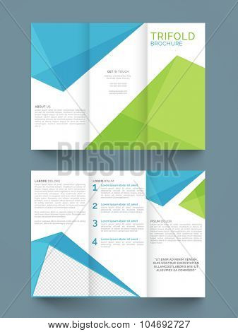 Creative professional Trifold, Flyer, Banner or Template with front and back page presentation.