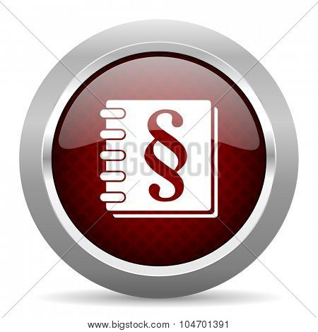law red glossy web icon