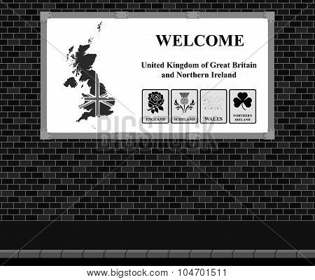 Welcome UK advertising board
