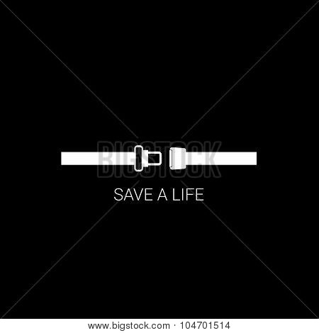 Seat Belt Save A Life Vector