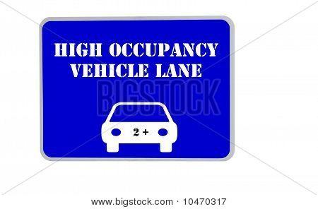 Blue Car Pool Sign Illustration