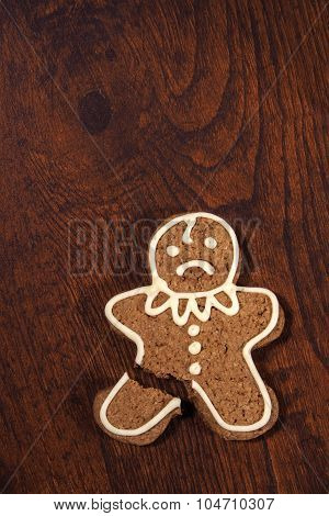 Sad gingerbread man.