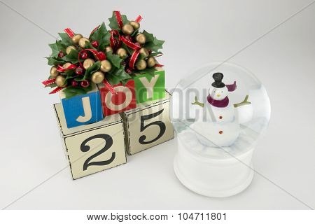 Christmas background. snow globe,