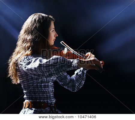 Beautiful Violinist Musician