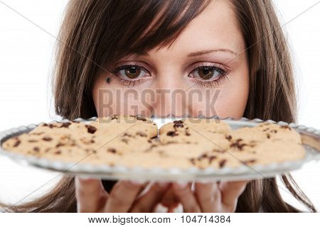 Young Woman With Homemade Cookies