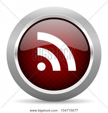 rss red glossy web icon