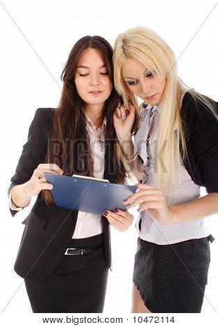 Two Businesswoman Looks In Advisor