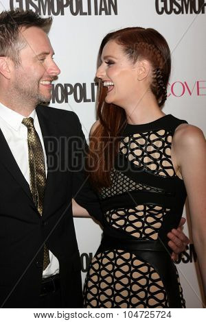 LOS ANGELES - OCT 12:  Chris Hardwick, Lydia Hearst at the Cosmopolitan Magazine's 50th Anniversary Party at the Ysabel on October 12, 2015 in Los Angeles, CA