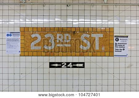 34Th Street Penn Station Subway Stop - Nyc