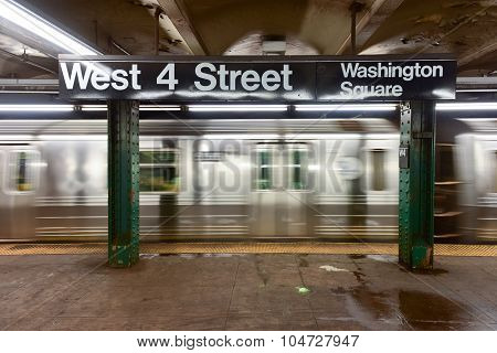 West Fourth Street Subway Stop - Nyc