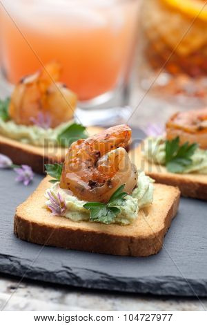 Grilled Shrimp Canape