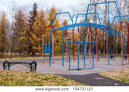 Playground in autumn Park
