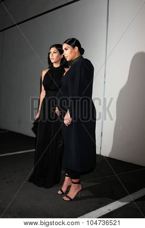 LOS ANGELES - OCT 12:  Kourtney Kardashian, Kim Kardashian West at the Cosmopolitan Magazine's 50th Anniversary Party at the Ysabel on October 12, 2015 in Los Angeles, CA