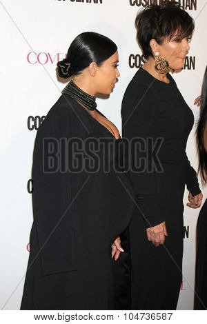 LOS ANGELES - OCT 12:  Kim Kardashian West, Kris Jenner at the Cosmopolitan Magazine's 50th Anniversary Party at the Ysabel on October 12, 2015 in Los Angeles, CA