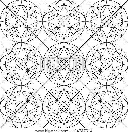 Seamless Pattern.  Design. Arc Style. Circles. Lines.